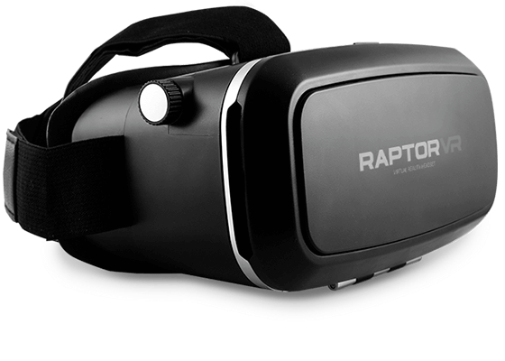 clean product shot of virtual reality headset